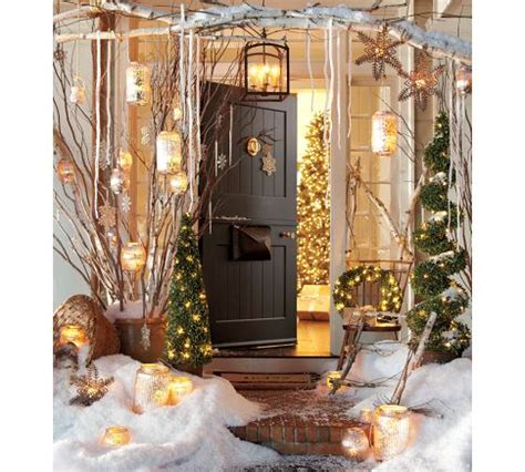 pottery barn inspired fall front porch christmas decorating ideas outdoors pre holiday makeover