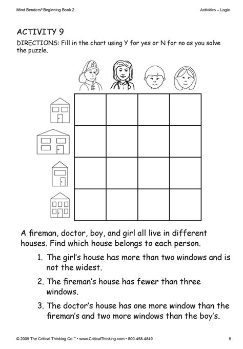 printable logic puzzles for kids math logic puzzles 4th grade prufrock press math