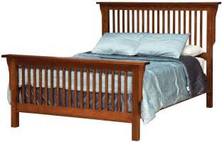 mission style frame bed with headboard footboard