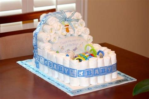 How To Make A Baby Shower Cake Out Of Diapers by Baby Cake