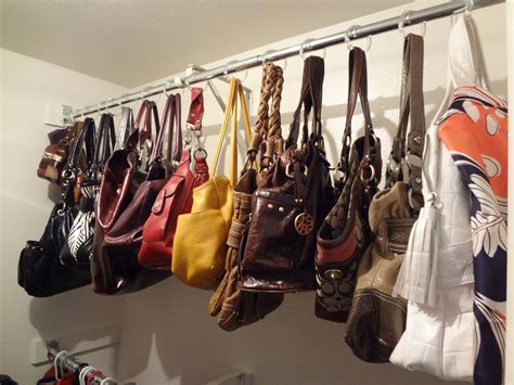 how to organize purses in closet how to how to organize purses