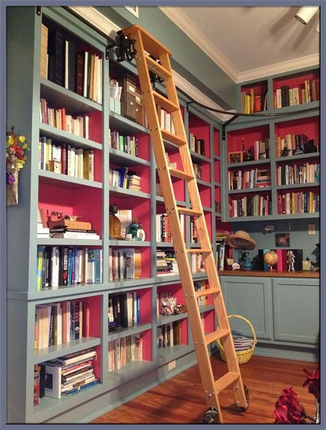 bookcase with sliding ladder 97 best bookshelves with library ladder images on
