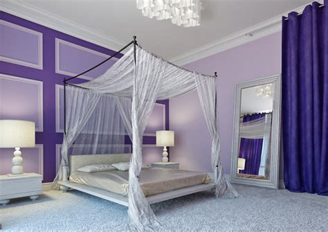 Canopy Bed Interior Design Ideas 25 Purple Bedroom Designs And Decor Designing Idea