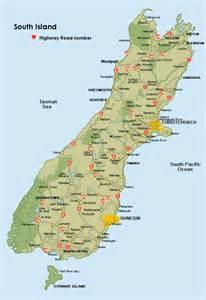south island new zealand map roads deboomfotografie