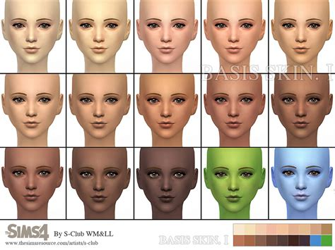 sims 4 default skin replacement s club wmll thesims4 bassis skintones i