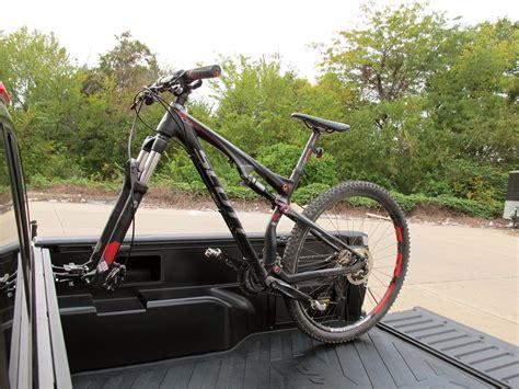 truck bed bike mount rockymounts driveshaft sd truck bed rail bike carrier