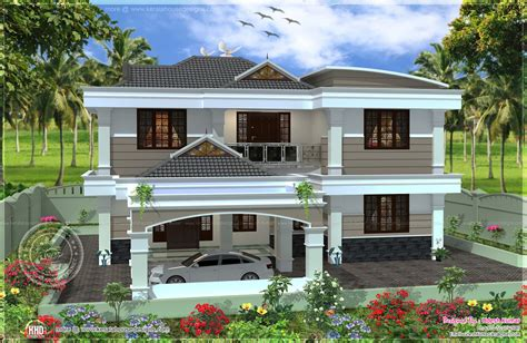 House Design In 2000 Square Feet by 255 Square Yards Double Storied House Design Kerala Home