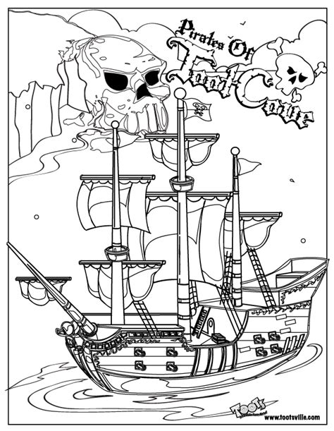 free coloring pages of pirate play