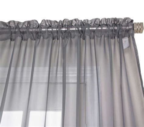 Voile Sheer Curtains Grey Sheer Voile Curtains