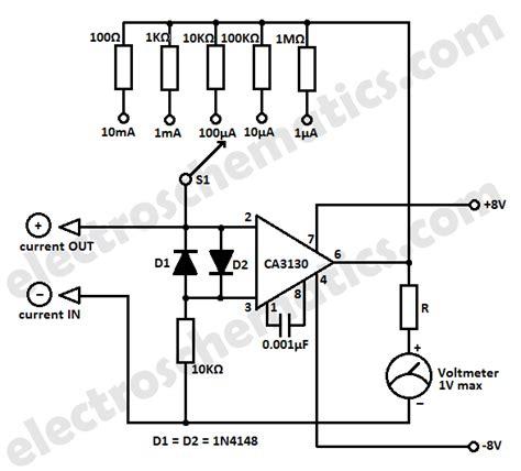 resistor meter circuit simple micro ere meter circuit