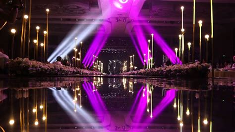 stage lighting and trussing system project for the wedding