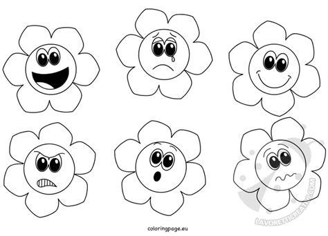 disegni da colorare dei fiori fiori delle emozioni da colorare lavoretti creativi