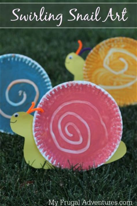Snail Paper Plate Craft - paper plate crafts for