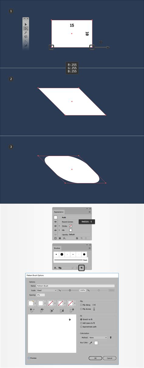 pattern brush options how to create a nautical themed logo in adobe illustrator