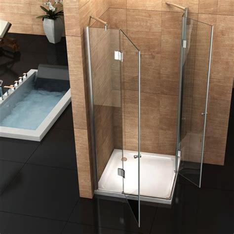 doccia doppia box doccia angolare vetro trasparente opaco bagno italia pa