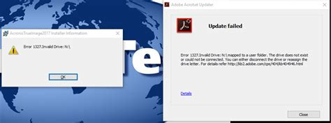 error 1327 invalid drive while installing or updating error 1327 invalid drive acronis forum