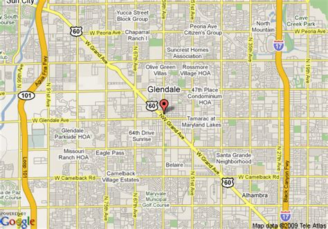 glendale arizona us map map of quality inn glendale glendale