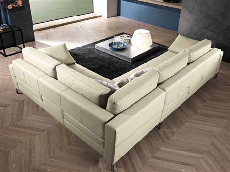 divano angolare in piuma pelle e memory alta qualita