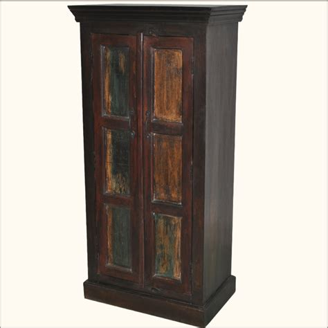 armoire wardrobe storage cabinet rustic hardwood hand painted storage armoire wardrobe