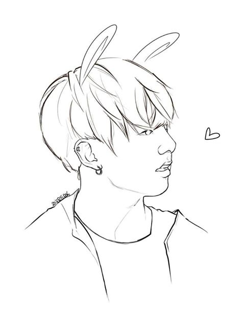 Bts V Coloring Pages by Jungkook Drawing At Getdrawings Free For Personal