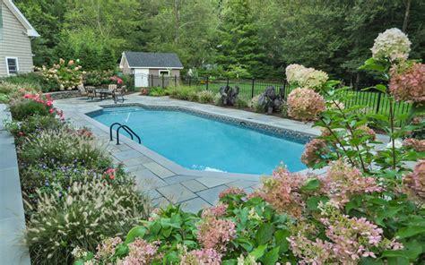 swimming pool landscaping pictures pool design nj clc landscape design