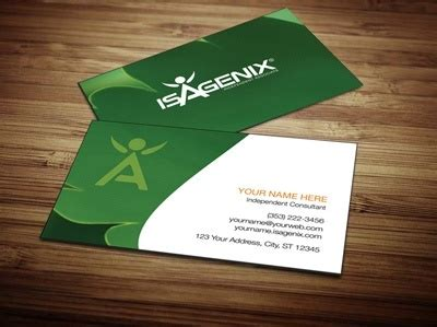 Isagenix Business Card Template by Isagenix Business Card Design 1 Network Marketing