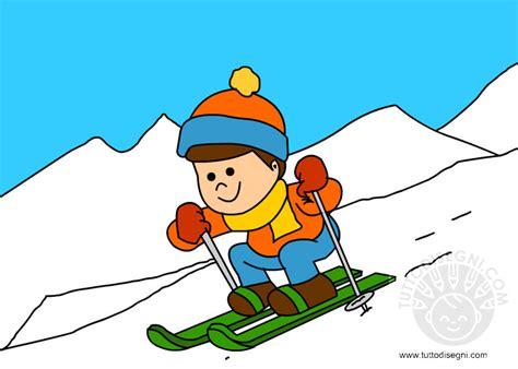 clipart inverno bambino sugli sci tuttodisegni