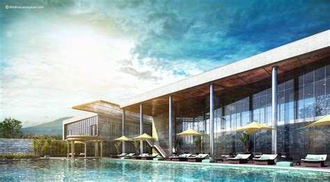 house with pool renders stare modern club house swimming pool vray 3d exterior
