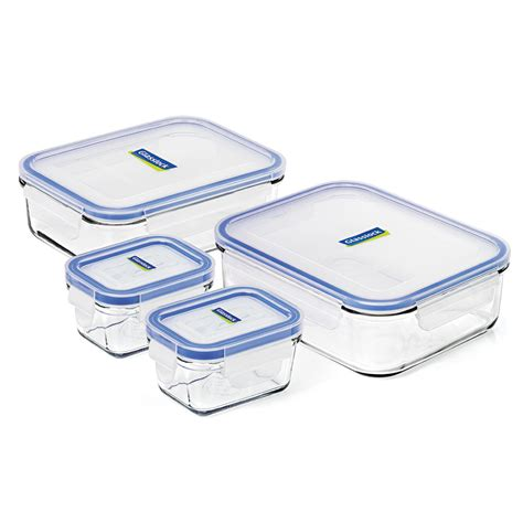 tempered glass food storage containers glasslock tempered glass food container set 4pce