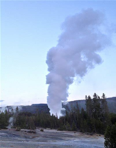 steamboat geyser webcam yellowstone s steamboat geyser sees rare eruption