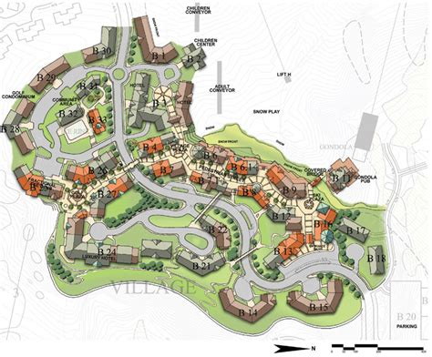 Organic Architecture Floor Plans by Tamarack Resort Master Plan