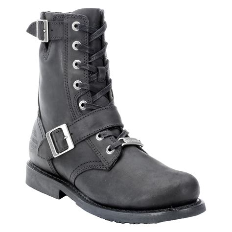 Harley Davidson 6295 Black Black Leather For harley davidson mens ranger leather boots black