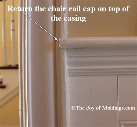 chair rail return return your chair rail on top of door or window trim the