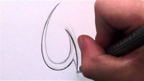 how to draw a simple tribal letter u youtube