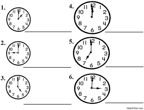 printable time practice sheets free telling time worksheets missing hands time clock