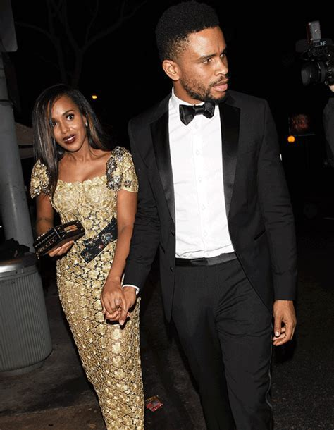 Actress Kerry Washington And Her HUSBAND At Golden Globes