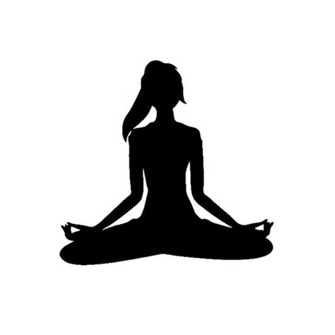 cartoon yoga wallpaper yoga sticker decal namaste fitness workout meditation