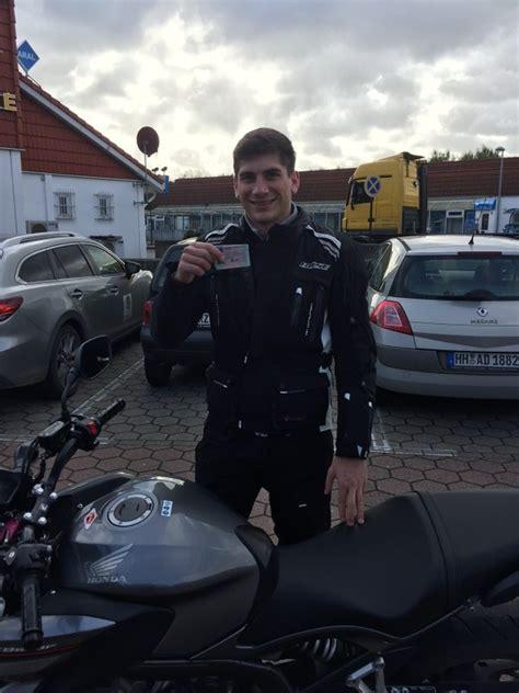 Motorrad F Hrerschein Hamburg by Janis Hat Die Fahrpr 252 Fung Motorrad Klasse A Bestanden