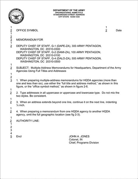 Memo Format Using Through Department Of The Army Memorandum Template Best Template Design Images