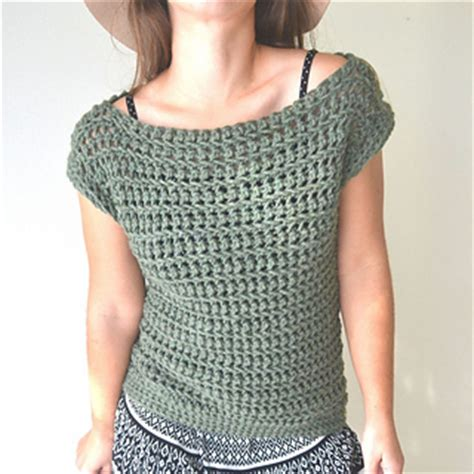 boat neck vest top ravelry crochet open work boat neck short sleeve sweater