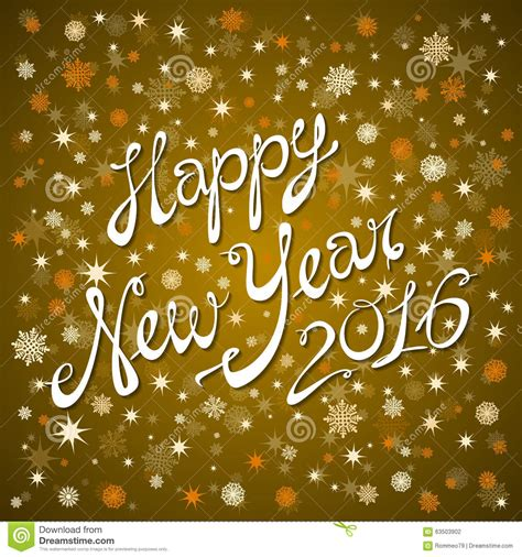 new year greeting gold 2016 happy new year greeting card with gold eps10 stock