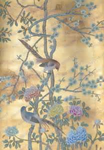 Patterns For Curtains And Drapes Hand Painted Wallpaper Chinoiserie Wallpaper Silk