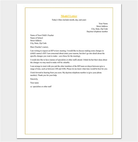 Parent Letter Requesting Parent Conference Sle Appointment Request Letter 14 Exles In Word Pdf