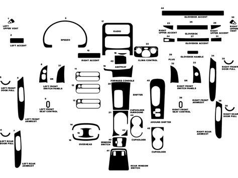 2002 jeep liberty parts diagram 2002 jeep liberty dash kits wood trim