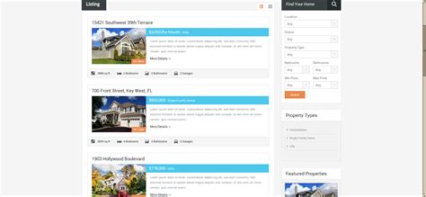 real estate property listing template image gallery property listings