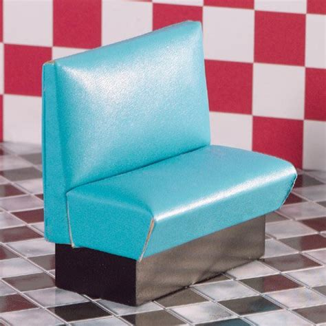 diner benches torquoise leather diner bench