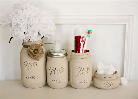 bathroom jar buy a custom painted distressed mason jars bathroom set