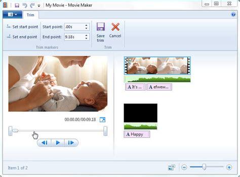 windows live movie maker tutorial trim tool guide how to use windows movie maker
