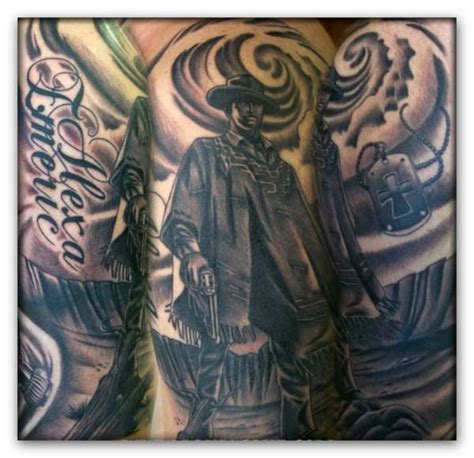 tattoo no name düsseldorf half sleeve of the quot man with no name quot tattoo