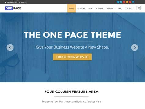 free single page web template psd uxfree com